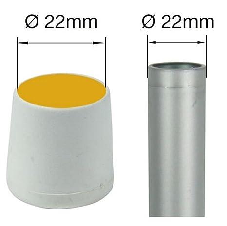 Logotipo con patas para muebles virola Pack de 16/availabile en 13/tama/ños blanco y negro