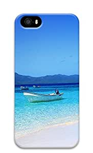 iPhone 5 5S Case Boat Shore Tropical Island Waters90 3D Custom iPhone 5 5S Case Cover