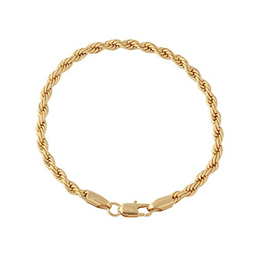 - Rope Chain Gold Bracelet for Men and Women Birthday Gift Jewelry Women Bangle