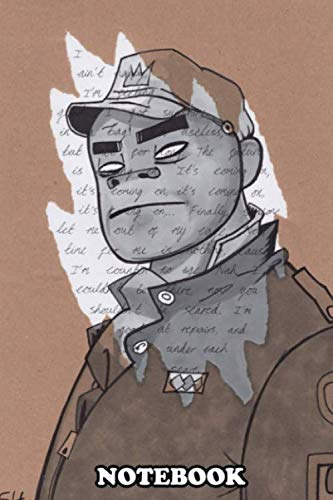 Notebook: Russel From Gorillaz Drawn With Marker Pens Over Torn B , Journal for Writing, College Ruled Size 6