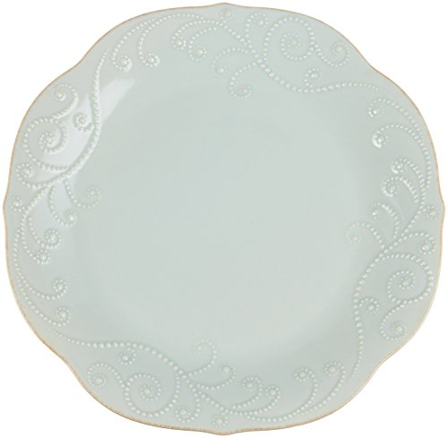 Lenox French Perle Dinner Plate, Ice (Lenox Blue Plate)