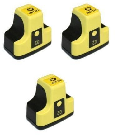 3 Pack Elite Supplies ® Compatible Inkjet Cartridge Replacement for HP02 HP-02XL, HP C8721W, HP Photosmart (3 YELLOW)