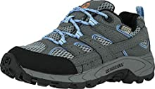 Merrell baby-girls Moab 2 Low Lace Wtrpf,Grey/Periwinkle,2 Big Kid