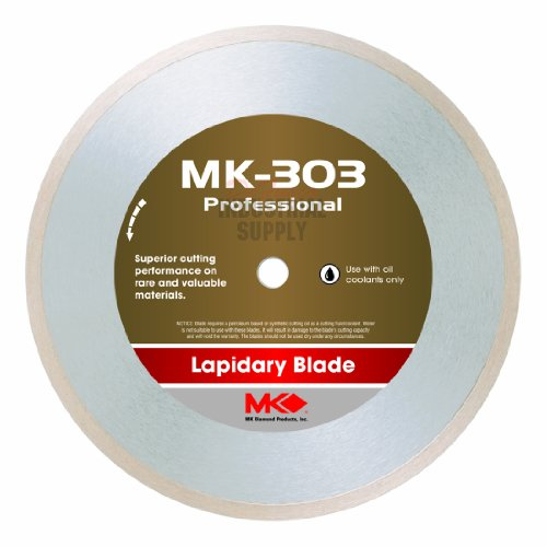 MK Diamond 153743 MK-303 Professional 4-Inch Diameter Lapidary Blade by .014-Inch wide by 5/8-Inch Arbor