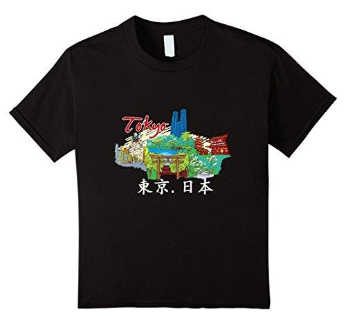 unisex-child Tokyo T-Shirt Japan Temple Cool Kanji Landmark Japanese Tee 6 (Temple Tokyo Japan)