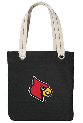 - University of Louisville Tote Bag Rich Cotton Canvas Louisville Cardinals Bags Black