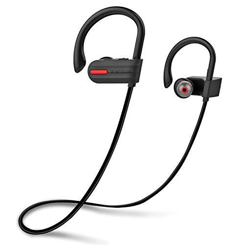 HOMTSSAW Wireless Headphones Bluetooth Headphones in Ear Sports Headphones IPX7 Waterproof Bluetooth Earphones
