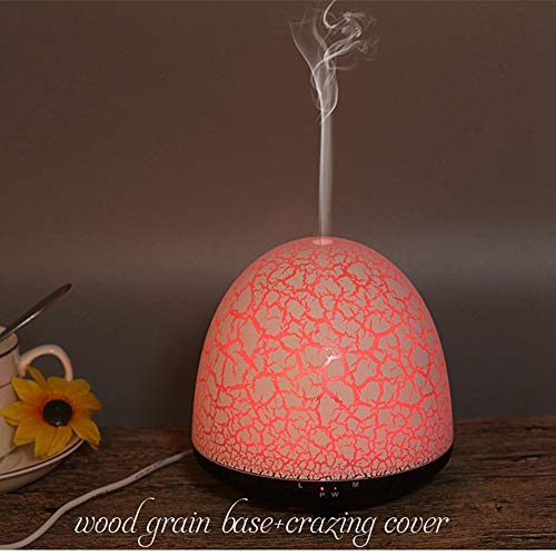 QVIE 100Ml Ultrasonic Wood Grain Essential Oil Aromatherapy Machine Humidifier by QVIE (Image #2)