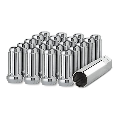DPAccessories D5118-2305/20 20 Chrome 14x1.5 Closed End Duplex XL Spline Lug Nuts for Aftermarket Wheels Wheel Lug Nut by DPAccessories