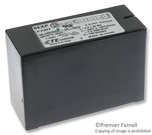 TE CONNECTIVITY CORCOM 6EXP RFI POWER LINE FILTER