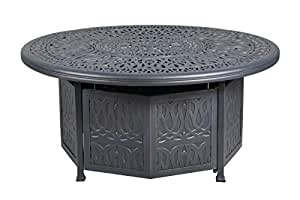iPatio Athens 52 inch Chat Height Gas Firepit Table