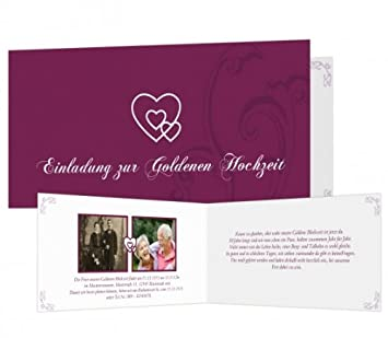 Sendmoments Liebesbrief Goldene Hochzeit Einladungskarten