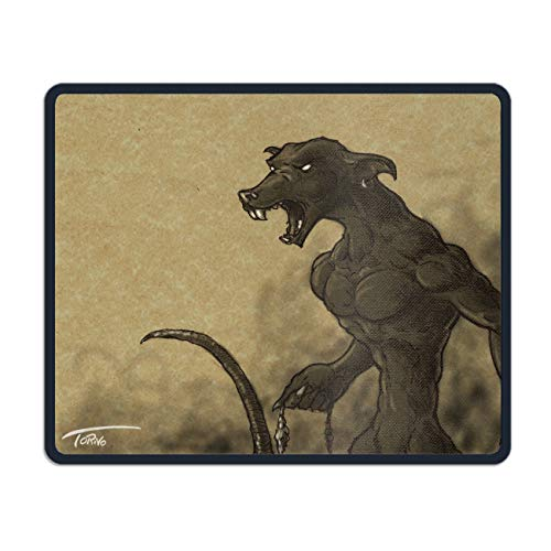 Personalized Mouse Pad - Dark Demon Horror Creepy Spooky Scary Halloween Satanic Satanism Werewolf Design and Make Your own Customized Mousepad. ()