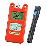 Baosity Pack Portable Optical Fiber Power Meter Tester Measure -70dBm~+10dBm + 1mW 5KM Visual Fault Locator Fiber Tester Detector Meter Pen