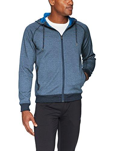 prAna Men's Halgren Tech Fleece Full Zip Hacket, Medium, Equinox Blue Heather