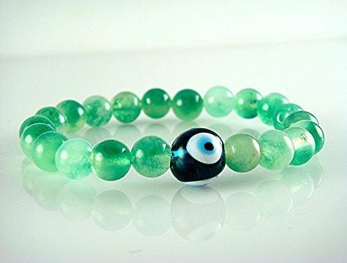 green-beads-heart-chakra-healing-energy-with-green-evil-eye-talisman-stretch-bracelet-7-medium-size