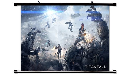 TitanFall Game Fabric Wall Scroll Poster  Inches