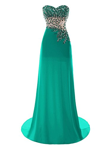 Fanciest Beaded Green 2016 Kleider Ball Kleider Abendkleider Lang Damen Formelle White wwr5p