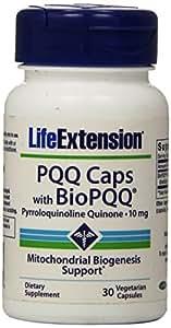 Life Extension PQQ Caps with BioPQQ, 10 Mg 30 veg capsules