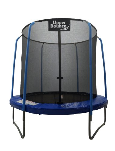Upper Bounce Skytric 8 FT Round Trampoline Set with Premium Top-Ring Flex Frame Safety Enclosure System