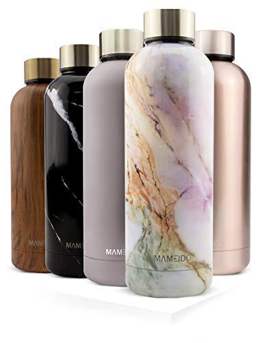 MAMEIDO Botella Agua Acero Inoxidable 750ml - Termo Reutilizable, cantimplora termica sin BPA, Aislamiento de Vacio de Doble Pared para Bebidas Frias 24 Horas y Calientes 12h