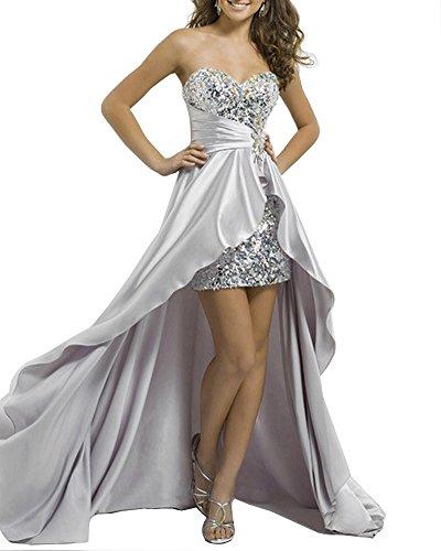 Corazón El Vestido Gris Elegante De Mujeres Rebordeó Noche Escote Molly YwXt1qz