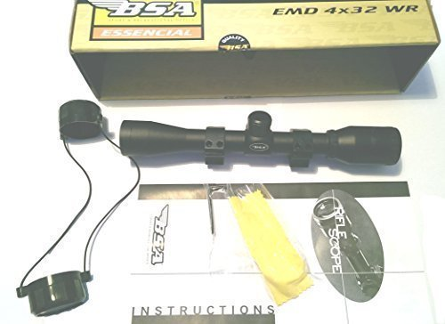BSA 550 4x32 WR Air Rifle Scope ready to mount - with Mil-dot, 4 times...