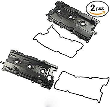 Complete Left /& Right Engine Valve Cover with Gasket kit for 2002-2003 Nissan Altima Maxima /& 2003-2007 Nissan Murano /& 2002-2004 Infiniti I35 3.5L V6