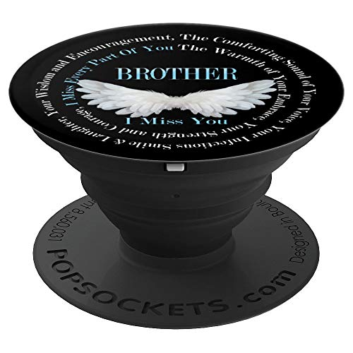 Guardian Angel Brother I Miss You Angel Wings Poem - PopSockets Grip and Stand for Phones and Tablets