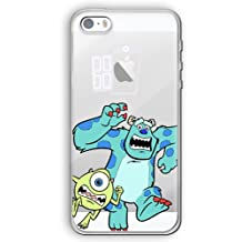 iPhone 5/5s Cartoon Silicone Phone Case / Gel Cover for Apple iPhone 5s 5 SE / Screen Protector & Cloth / iCHOOSE / Monsters Inc.