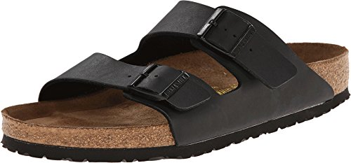 (Birkenstock Unisex Arizona Black Birko-flor Sandals - 7-7.5 B(M) US Women)