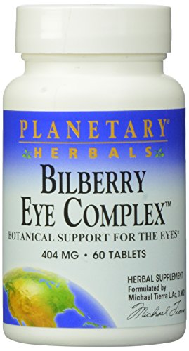Planetary Herbals Bilberry Eye Complex Tablets, 60 Count (Herbals Planetary Bilberry Eye)