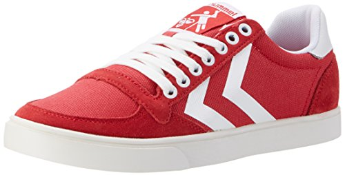Hummel Unisex-Erwachsene Slimmer Stadil Waxed Canvas Lo-Top Low Rot (Ribbon Red)