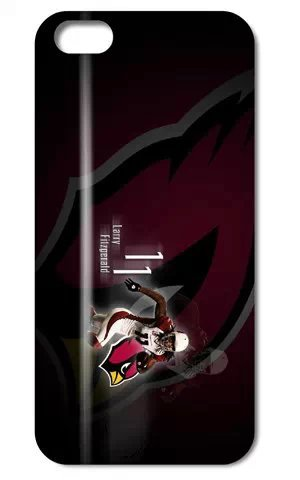The NFL stars Larry Fitzgerald from Arizona Cardinals team custom design case cover for iphone 5 5S