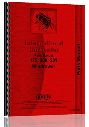 (International Harvester 201 Windrower Parts Manual)