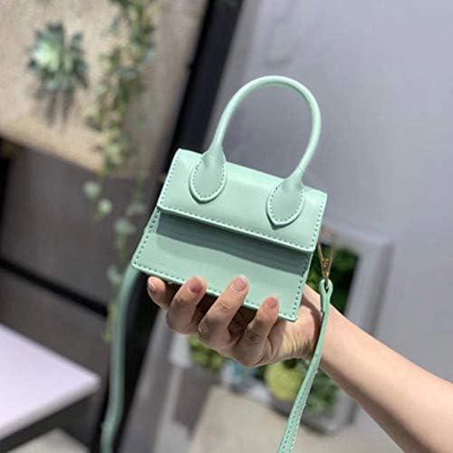ZWQ Handtaschen Umhängetaschen für Frauen Schulter Messenger Taschen Weibliche Kleine Clutch Damen Geldbörse, Himmelblau