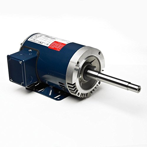 Marathon 184TTDW7215 Two Speed Two Winding Motor, Multi-Speed, 3 Phase, Open Drip Proof, Rigid Base, Ball Bearing, 3 hp, 1800/1200 RPM, 460 VAC, 184T Frame ()