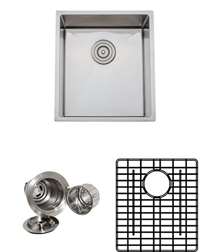 - Wells Sinkware CSU1719-9-1 Commercial Grade 16-Gauge Handcrafted Single Bowl Undermount Kitchen Sink Package, Stainless Steel