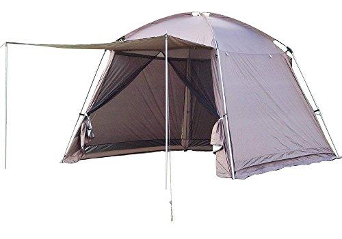 優先権主張言い聞かせるHewflit スクリーンテント メッシュスクリーン シェード 虫除け 蚊帳 キャンプ バーベキュー 蚊帳テント 3m×3m メッシュシート UVカット 収納袋付全3色