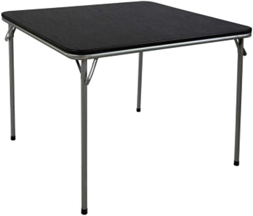 パソコンデスク 黒いプラスチック製のテーブル折り畳み式携帯ホームマストスクエア表チェス麻雀表シンプルな黒いプラスチック製の表は、防水性と耐久性 ホームオフィスコーナーデスク (色 : ブラック, サイズ : 85×85×71cm)