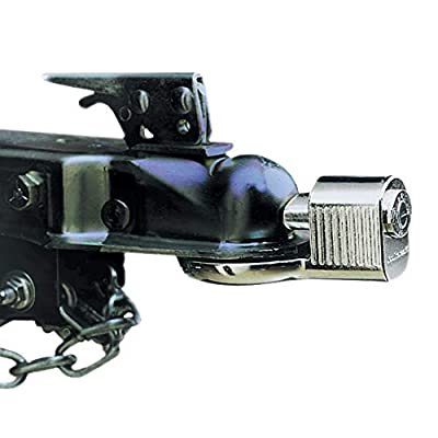 Master Lock 377KA Trailer Hitch Lock, Fits 1-7/8 in., 2 in., and Most 2-5/16 in. Trailer Couplers, Chrome: Automotive