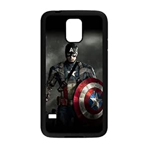 C-EUR Customized Print Captain America Hard Skin Case Compatible For Samsung Galaxy S5 I9600