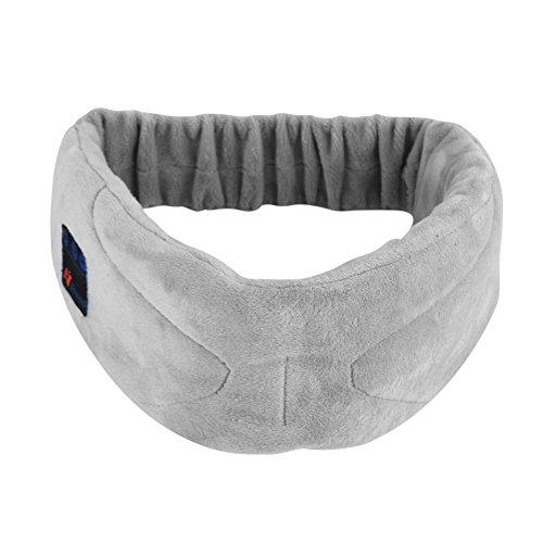 fosa Antifaz para Dormir con Auricular para Reproducción Música, Máscara de Ojo Bluetooth 4,0 Csr de Material Blando,...