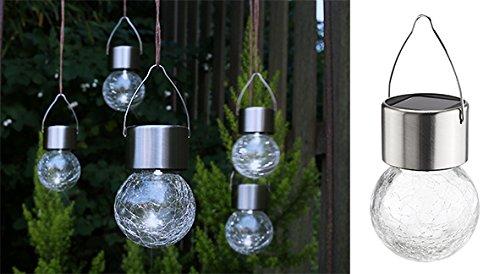 Buvtec solar set di lampade sospese crackle balls echts vetro
