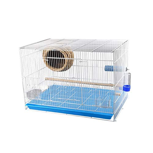 Xinxinchaoshi Square Parakeet Parrot Cage Household Economy Bird Cage Pet Supplies (Size : S)