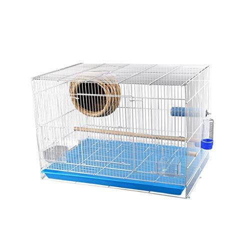 Xinxinchaoshi Square Parakeet Parrot Cage Household Economy Bird Cage Pet Supplies (Size : S) ()