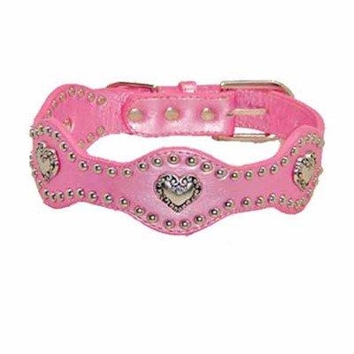 Hip Doggie Pink Heart Wave Collar Size - XL