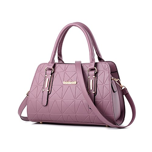 embossed bag commute 's Tisdaini casual Purple wallet Messenger bag handbag ladies Women shoulder tURtqTFw