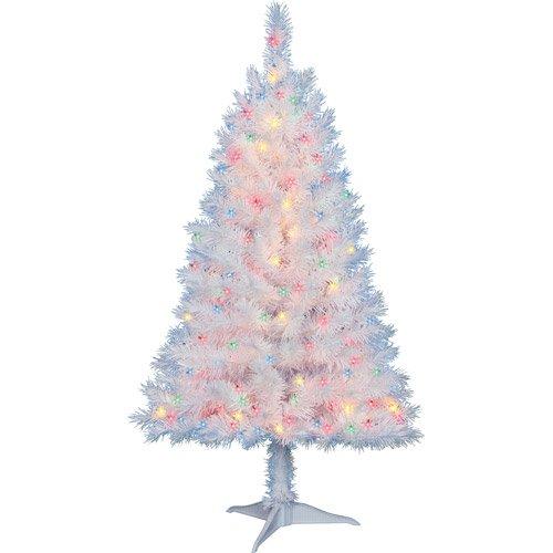 Amazon.com: 4 Ft. Pre-Lit Multi Color White Indiana Spruce ...