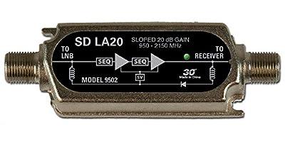 SD LA20, DBS Line Amp 20 dB gain, 250 to 2150 MHz